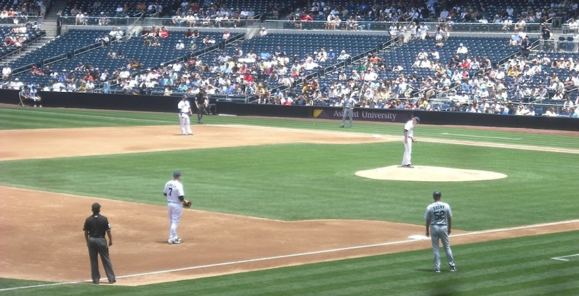 Petco Park, Andrew -- UGHHH!!!! --Cashner on the mound.